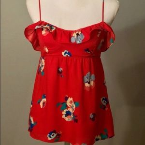 Red Floral American Eagle Top